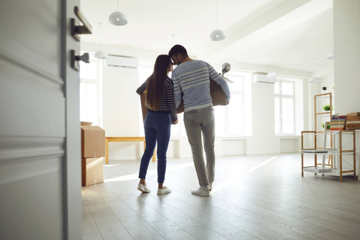 Young couple of first-time homeowners